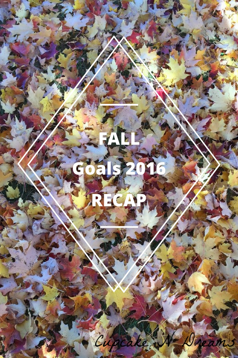Fall Season Goals 2016